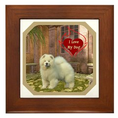 Chow Chow Framed Tile