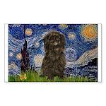 Starry Night / Affenpinscher Sticker (Rectangle)