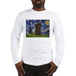 Starry Night / Affenpinscher Long Sleeve T-Shirt