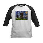 Starry Night / Affenpinscher Kids Baseball Jersey