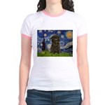 Starry Night / Affenpinscher Jr. Ringer T-Shirt