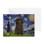 Starry Night / Affenpinscher Greeting Cards (Pk of