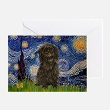 Starry Night / Affenpinscher Greeting Card