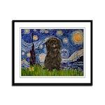 Starry Night / Affenpinscher Framed Panel Print