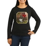 Collie Women's Long Sleeve Dark T-Shirt