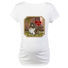 Collie Maternity T-Shirt