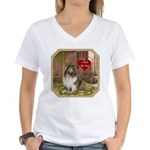 Collie Women's V-Neck T-Shirt