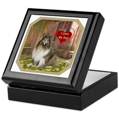 Collie Keepsake Box