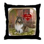 Collie Throw Pillow