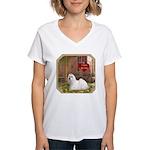 Maltese Women's V-Neck T-Shirt
