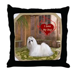 Maltese Throw Pillow