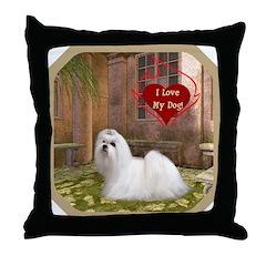 Maltese Throw Pillow