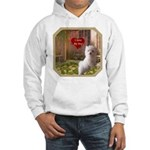 Maltese Puppy Hooded Sweatshirt