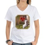 Maltese Puppy Women's V-Neck T-Shirt