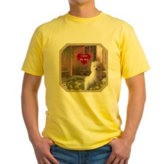 Maltese Puppy Yellow T-Shirt