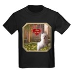Maltese Puppy Kids Dark T-Shirt