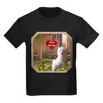 Maltese Puppy Kids Dark T-Shirt