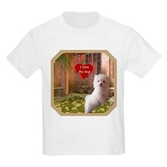 Maltese Puppy Kids Light T-Shirt