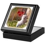 Maltese Puppy Keepsake Box