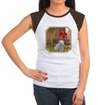 Pomeranian Puppy Women's Cap Sleeve T-Shirt