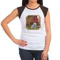 Pomeranian Puppy Women's Cap Sleeve T-Shirt