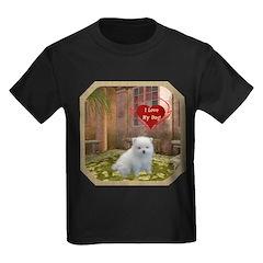 Pomeranian Puppy Kids Dark T-Shirt
