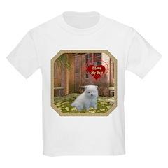 Pomeranian Puppy Kids Light T-Shirt