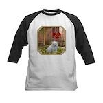 Pomeranian Puppy Kids Baseball Jersey