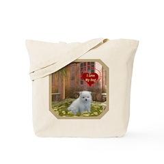 Pomeranian Puppy Tote Bag