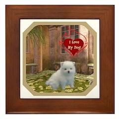 Pomeranian Puppy Framed Tile