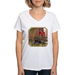 Poodle Women's V-Neck T-Shirt