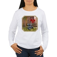 Schnauzer #1 Women's Long Sleeve T-Shirt