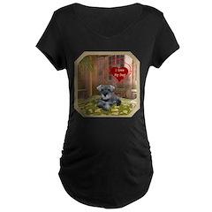 Schnauzer #1 Maternity Dark T-Shirt