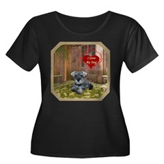 Schnauzer #1 Women's Plus Size Scoop Neck Dark T-S