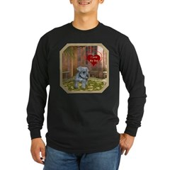 Schnauzer #2 Long Sleeve Dark T-Shirt