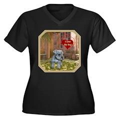 Schnauzer #2 Women's Plus Size V-Neck Dark T-Shirt