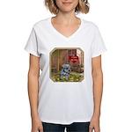Schnauzer #2 Women's V-Neck T-Shirt