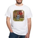 Schnauzer #2 White T-Shirt