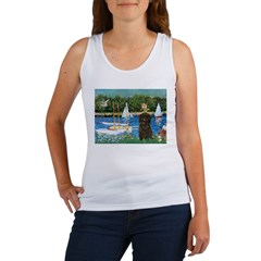 Sailboats / Affenpinscher Women's Tank Top