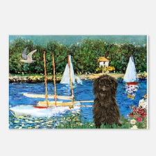 Sailboats / Affenpinscher Postcards (Package of 8)