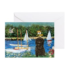 Sailboats / Affenpinscher Greeting Cards (Pk of 20