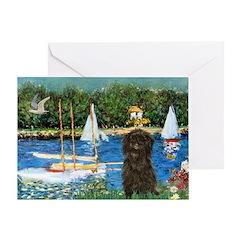 Sailboats / Affenpinscher Greeting Card