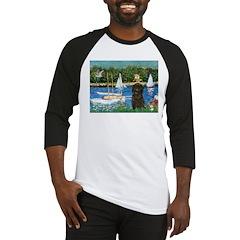 Sailboats / Affenpinscher Baseball Jersey
