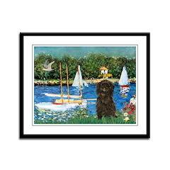 Sailboats / Affenpinscher Framed Panel Print