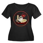 Cat #1 Women's Plus Size Scoop Neck Dark T-Shirt