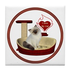 Cat #1 Tile Coaster