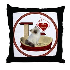Cat #1 Throw Pillow