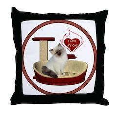 Cat #1 Throw Pillow
