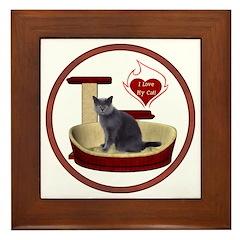 Cat #2 Framed Tile