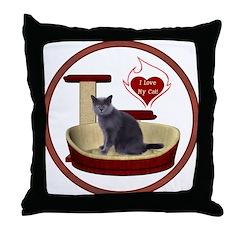 Cat #2 Throw Pillow